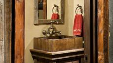 miroir salle de bains rustique cadre brut