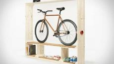 étagère entrée astucieux rangement vélo