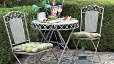 mobilier jardin table fer forgé