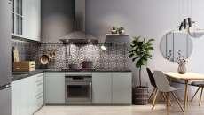 design minimaliste moderne aménagement cuisine en L