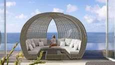 lit de luxe pour le jardin