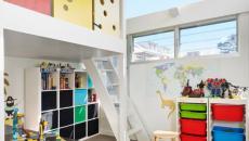décoration colorée chambre enfant lit mezzanine