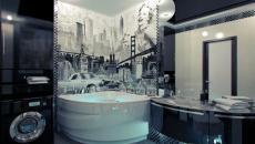 salle de bain design américain