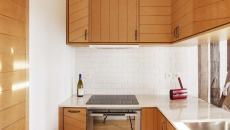 placards bois massif design petite cuisine élégant