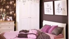 chambre à coucher design fleur et blanc
