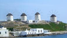 moulins à vent île Mykonos vacances tourisme
