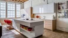 spacieux loft déco brique style industriel moderne
