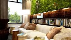 Mur vivant en verdure hôtel design boutique