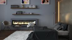 gris sombre aux murs tapis gris clair