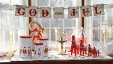 décoration de fenêtre Noël à la scandinave