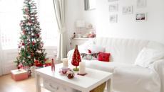 blanc et rouge idées déco scandinaves de Noël