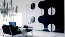 maison tendance noir et blanc séjour