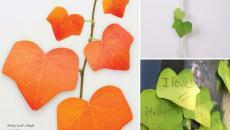 feuilles automne post-it créatifs
