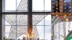 étoile déco de fenêtre pour Noël