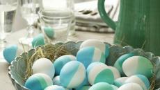 turquoise œufs de pâques