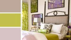 palettes de couleurs mauve vert