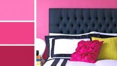 couleurs vives chambre féminine
