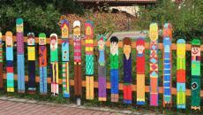 amusante palissade peinte enfants