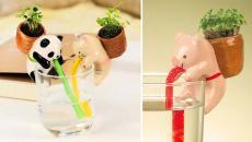 cochon accessoires pots de fleurs déco enfants