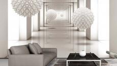 déco élégante séjour papier peint créatif