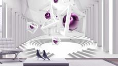 formes géométriques effet abstrait contemporain déco mur papier peint