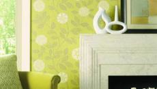 murs design en vert anis