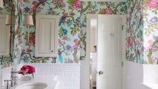 papier peint vinyle salle de bain déco