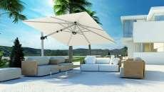parasol rectangulaire luxe mobilier de jardin