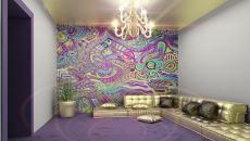 déco design maison mur psychédélique