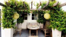 pergola design rustique terrasse extérieure