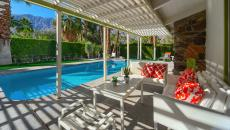 terrasse ombragée piscine de luxe