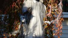 personnage terrifiant décoration Halloween jardin