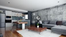 décoration design en gris petit studio