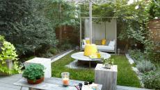 petite jardin arrière maison de ville