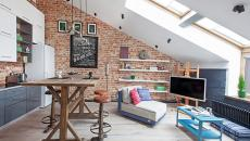 Petit logement loft sous le toit
