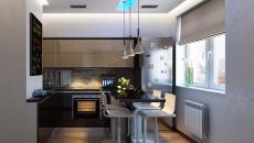 appartement de ville comptoir en salle à manger