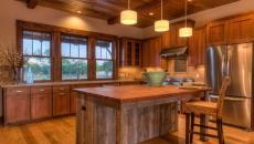 belle demeure cuisine placards rustiques