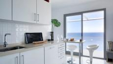 cuisine en blanc au design simple