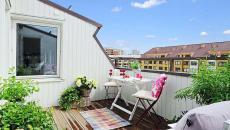 terrasse d'appartement toit avec vue ameublement