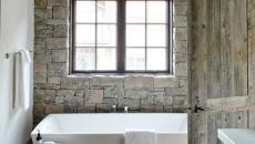 salle de bain rustique maison secondaire