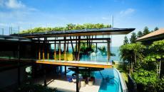 belle maison piscine design luxe outdoor extérieur
