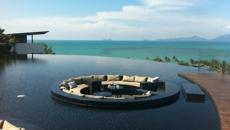 piscine extérieure outdoor à débordement