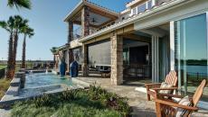 petit aménagement terrasse design exotique