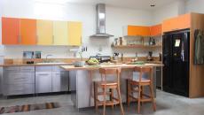 déco cuisine moderne couleurs pétillantes