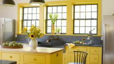 cuisine de campagne en jaune