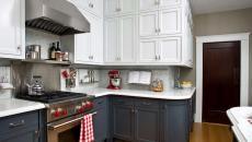 cuisine classique traditionnelle placards bicolore