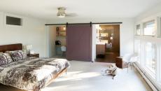 Chambre avec porte coulissante sympa