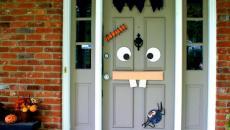 porte d'entrée unique décoration halloween