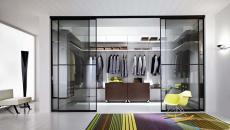 suite luxe grand armoire transparent porte en verre coulissante