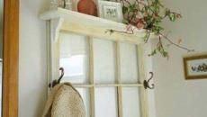 vieille fenêtre devenue étagère déco maison